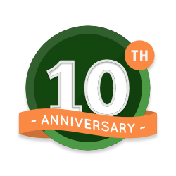 Woodland Mills 10 Year Aniversary Badge