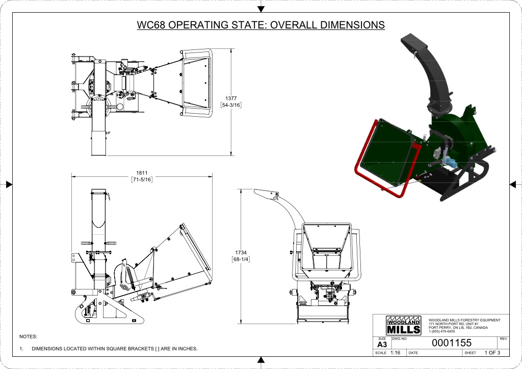WC68 6″ PTO Wood Chipper Image 15