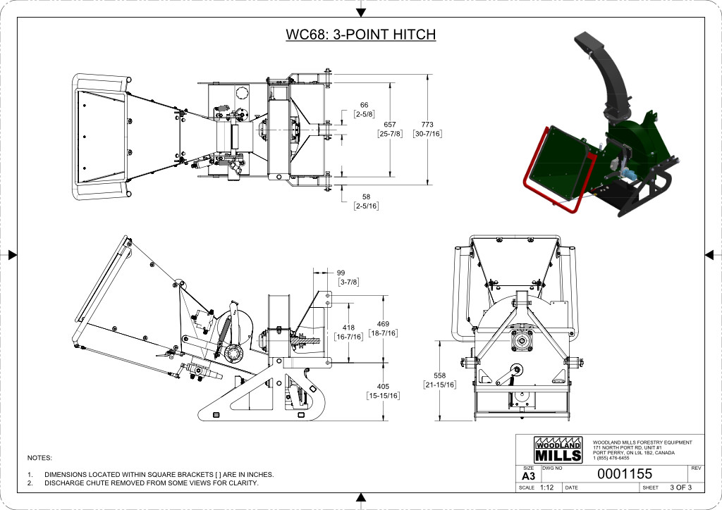 WC68 6″ PTO Wood Chipper Image 17