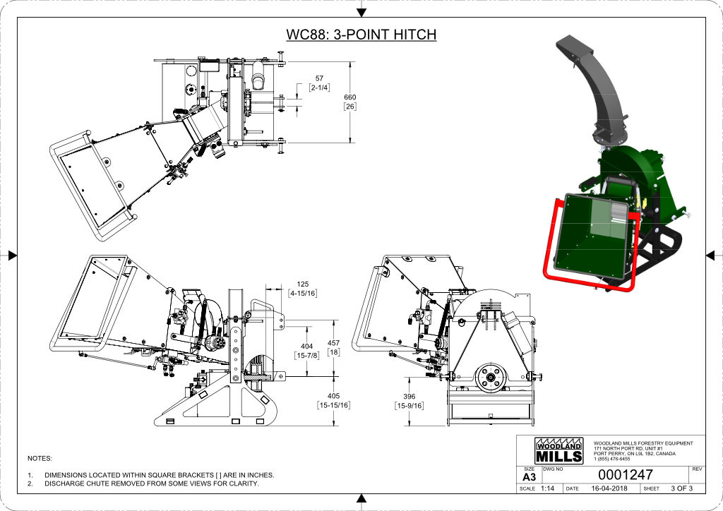 WC88 8″ PTO Wood Chipper Image 22